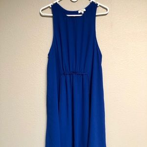 Aritzia Wilfred Tie Waist Blue Dress Sabine L